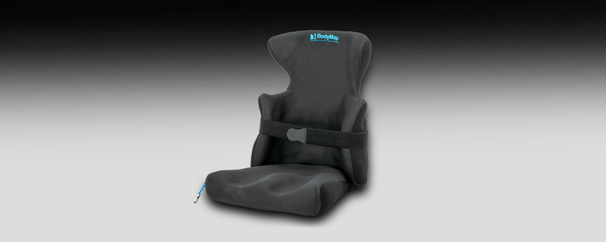 Podciśnieniowy fotelik z pelotami bocznymi i zagłówkiem BodyMap AC