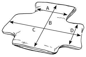 Вакуумная спинка с боковинами и подголовником BodyMap C