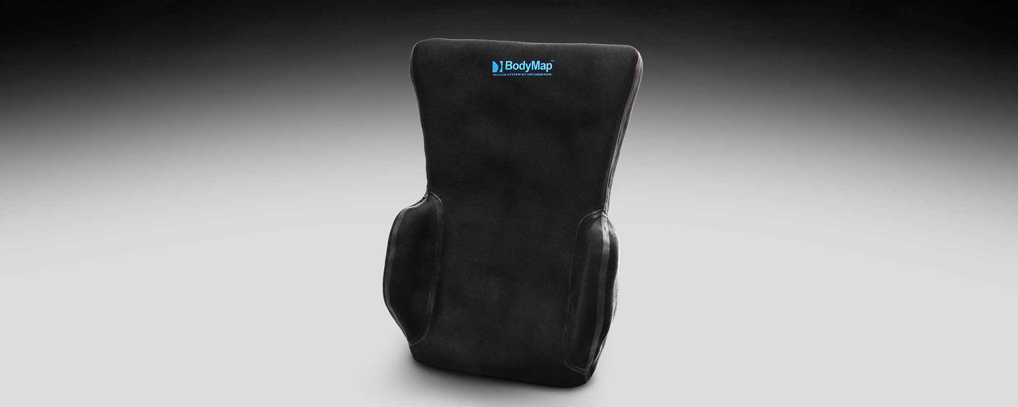 Backrest cushion with lateral supports BodyMap® B+